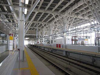 Shin-Aomori Station - The Shinkansen platforms in November 2010