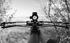 Shooting A Crossbow in Black And White.jpg