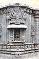 Shrine wall frieze and relief in Mallikarjuna temple at Kuruvatti.JPG