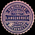 Siegelmarke Gemeindeamt Langenbruck - Bezirk Reichenberg W0301263.jpg