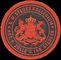 Siegelmarke K.W. Steuerkollegium Abt. für Zölle und Steuern W0390461.jpg