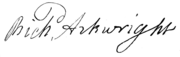 Signature of Richard Arkwright (4672389).png