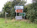 Signpost on A12 at Kelsale cum Carlton - geograph.org.uk - 1041960.jpg