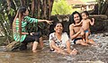 Sihanoukville Province. Bathing in the waters of the waterfall Kbal Chhay.jpg