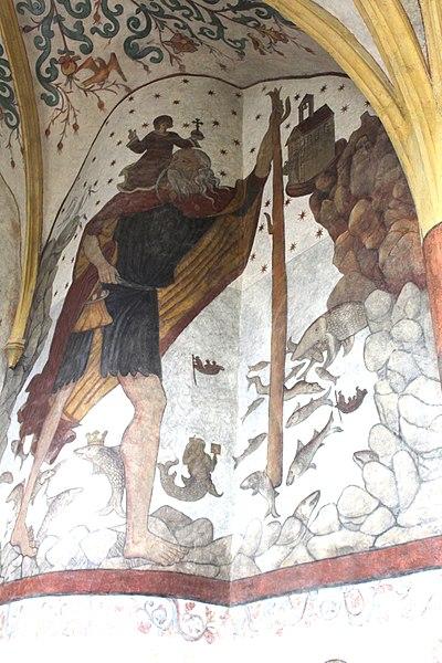 Sillegny, Saint Martin church, fresco