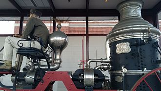 Birdsill Holly - Silsby steam fire engine carriage in Brenham, Texas