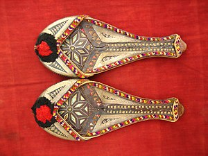 A pair of shoes in the Sindhi tradition from N...