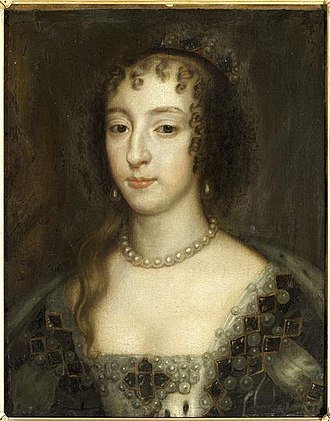 English Civil War - Henrietta Maria, painted by Peter Lely, 1660