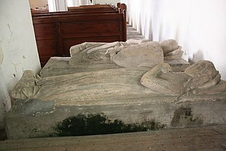 Philip Marmion, 5th Baron Marmion of Tamworth - Philip and Lady Marmion's effigy in Scrivelsby church