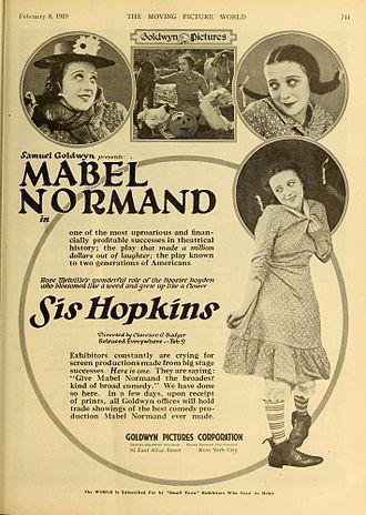 Sis Hopkins - 1919 magazine advertisement
