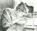 Sister A.A. Somova working by K. Somov (1892 ).jpg