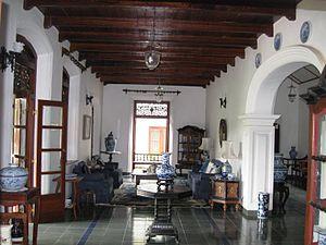 Walauwa - Sitting room of Meeduma Walauwa,  Rambukkana, Sri Lanka