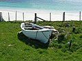 Small boat in its noust - geograph.org.uk - 176566.jpg