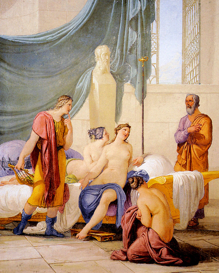 Socrates discovers Alcibiades in a brothel