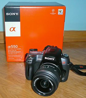 Sony Alpha 550 digital camera model