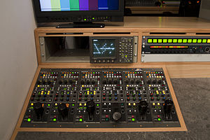 Camera control unit - A bank of RCPs for racking Sony studio cameras.