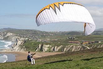 Sopela - Sopela beach, paragliding