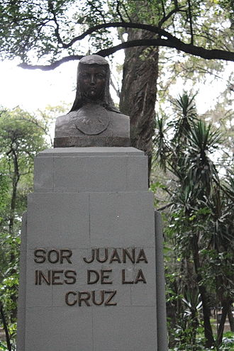 Juana Inés de la Cruz - Monument of Sor Juana in Chapultepec.