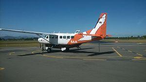 Sounds Air - A Sounds Air Grand Caravan at Christchurch Airport in 2014.