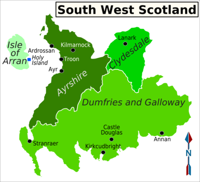 Troon Scotland Map.South West Scotland Travel Guide At Wikivoyage