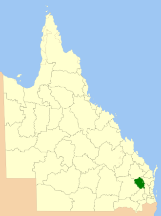South Burnett Region - Location within Queensland
