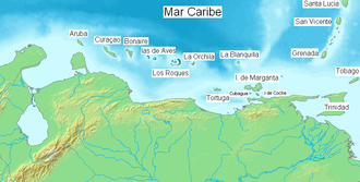 Lesser Antilles - Map of the Leeward Antilles
