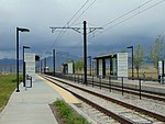 Southwest at South Jordan Parkway station platforms, Apr 1.jpg