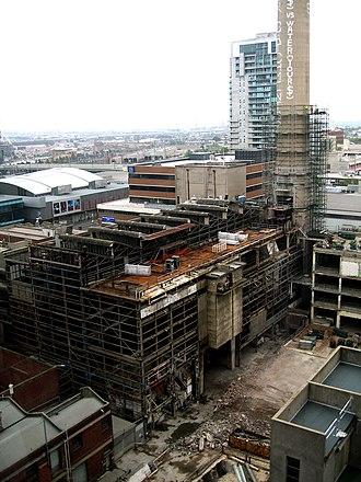 Spencer Street Power Station - Image: Spencer Street Power Station demolition 2