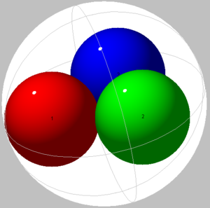 Sphere packing in a sphere - Image: Spheres in sphere 03