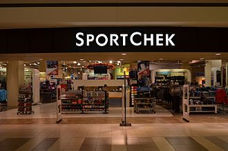 Sport Chek - A Sport Chek store in The Promenade Shopping Centre, Thornhill, Ontario with a very rare sign, without the red check.
