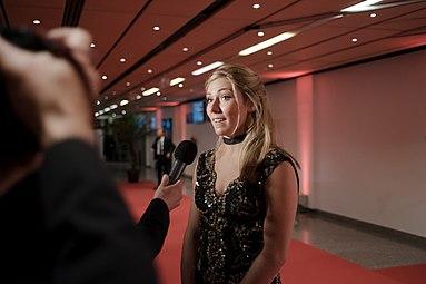 Sportler des Jahres Österreich 2016 red carpet Mikaela Shiffrin 1.jpg