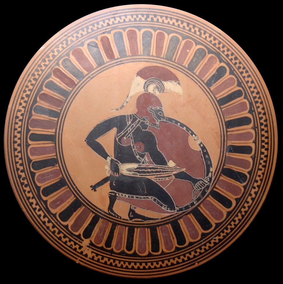 Squatting warrior Staatliche Antikensammlungen 8966