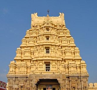 Ranganathaswamy Temple, Srirangapatna - The temple gopuram