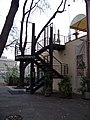 Střelecký ostrov, restaurace, schodiště na terasu.jpg