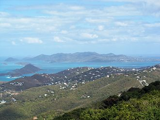 Saint John, U.S. Virgin Islands - View of Saint John from neighboring St. Thomas