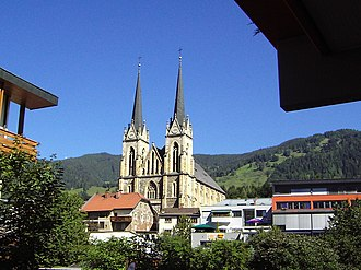 St Johann im Pongau - Exterior View of the Cathedral of St. Johann