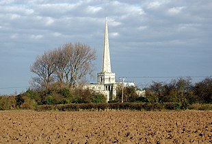 The spire of Saint Mary's, Hemingbrough, is 191 ft tall and was probably added in the early 15th century