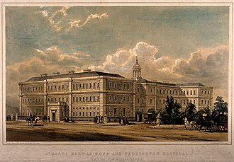 St Mary's Hospital, London - The original block in Norfolk Place