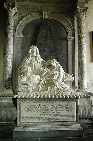 1730 in art - Image: St Peter, Steeple Aston, Oxon Monument geograph.org.uk 1609708