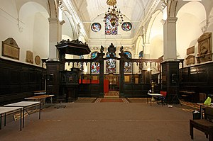 St Peter upon Cornhill - Interior looking east