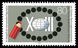 International Organization of Supreme Audit Institutions - German commemorative stamp from XIII INCOSAI