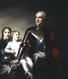 Le Comte Stanislas Félix Potocki et ses deux fils