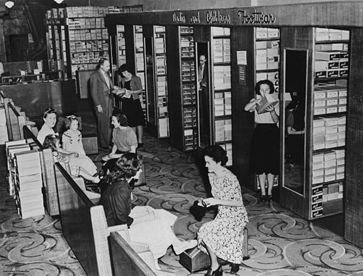 StateLibQld 2 106572 Shoe department in Cribb and Foote's Ipswich store, April 1949