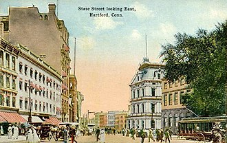 Hartford, Connecticut - State Street in 1914