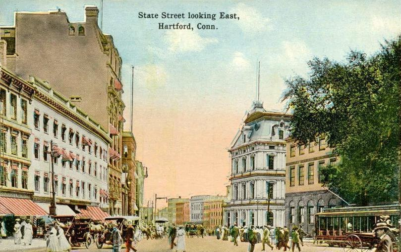 State Street Looking East, Hartford, CT