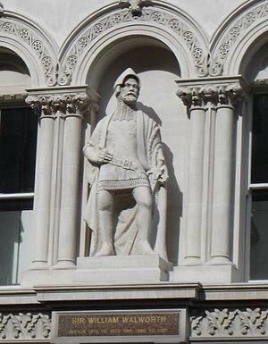 William Walworth - Statue of Sir William Walworth at Holborn Viaduct
