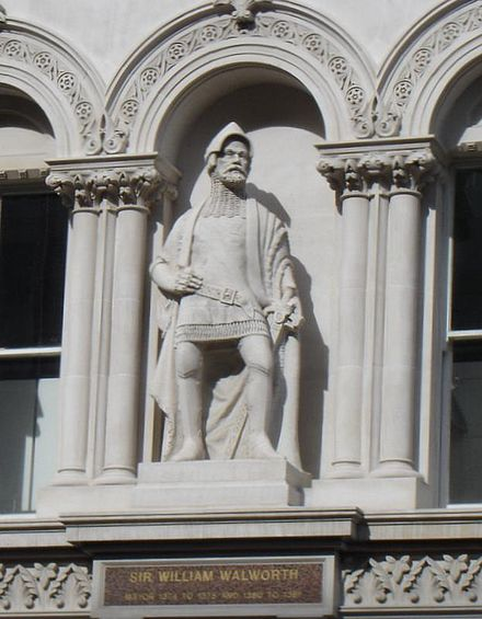 Statue of Sir William Walworth at Holborn Viaduct