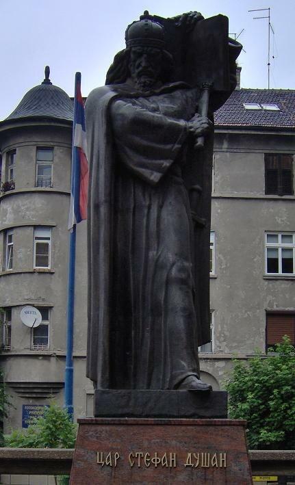 Statue of Emperor Dušan in Belgrade