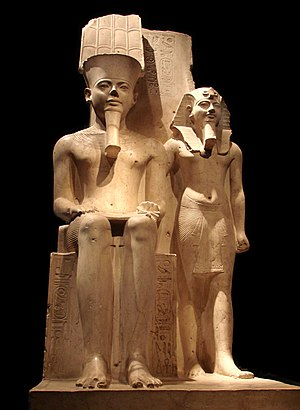 Horemheb - Horemheb with Amun at the Museo Egizio