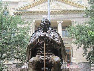 José Antonio Navarro - Navarro statue at the Navarro County Courthouse in Corsicana, Texas